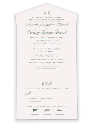 Hepburn All-in-One Wedding Invitations