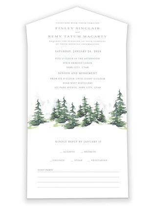 On the Slopes All-in-One Wedding Invitations