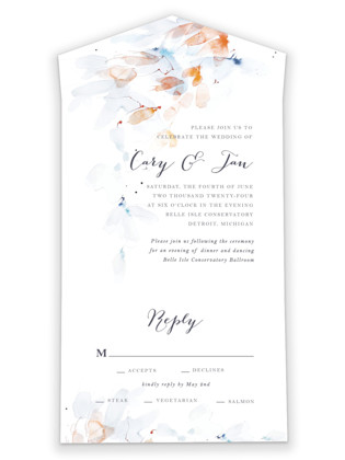 Petale All-in-One Wedding Invitations