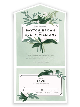 Botanical Name Plate All-in-One Wedding Invitations