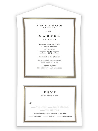 Classic Label All-in-One Wedding Invitations