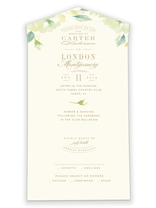 Southern Garden All-in-One Wedding Invitations
