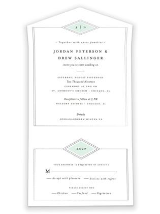 photo of Modern Elegance All In One Wedding Invitations
