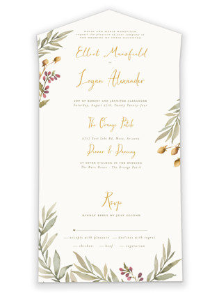 Summer Love All-in-One Wedding Invitations