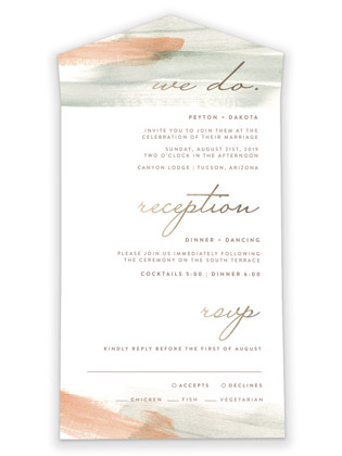 Canyon All-in-One Wedding Invitations