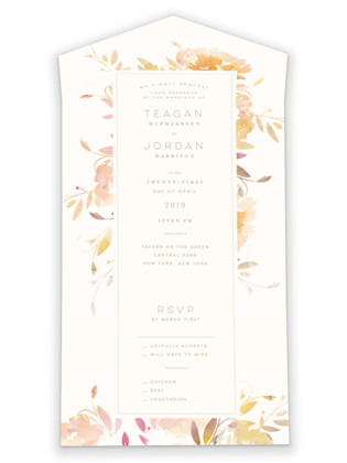 Garden All-in-One Wedding Invitations