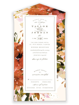 Eden All-in-One Wedding Invitations