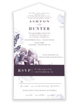 Evening Bloom All-in-One Wedding Invitations