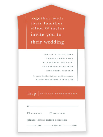 Evermore All-in-One Wedding Invitations