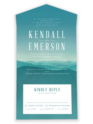 Misty Mountain Range All-in-One Wedding Invitations