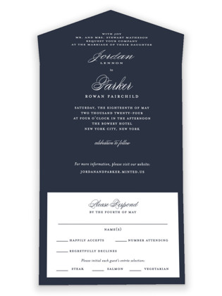 Flawless All-in-One Wedding Invitations