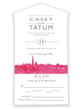 Skyline - Washington DC All-in-One Wedding Invitations