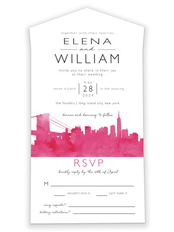 Skyline - New York All-in-One Wedding Invitations