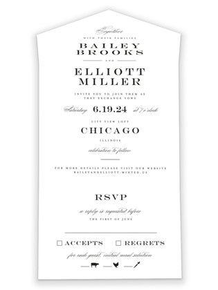 Downtown All-in-One Wedding Invitations