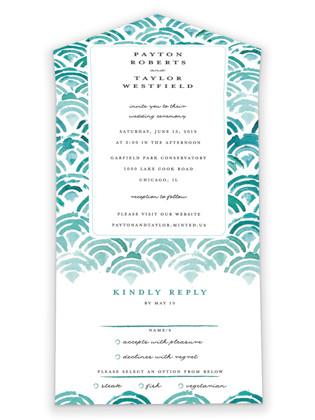 Sea Scallop All-in-One Wedding Invitations