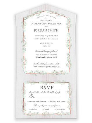 In the Woods All-in-One Wedding Invitations