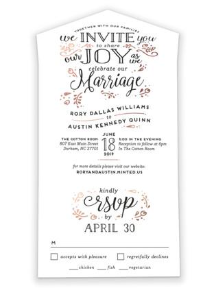 Joyful All-in-One Wedding Invitations
