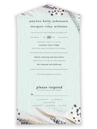 Abstract Union All-in-One Wedding Invitations