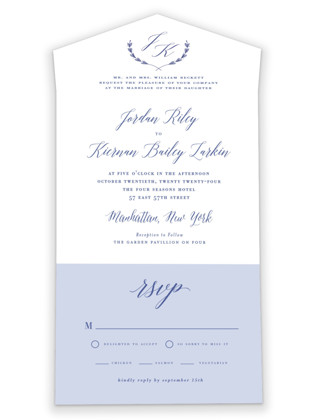 United All-in-One Wedding Invitations