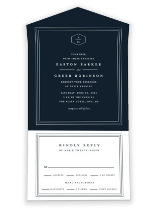 Next Adventure All-in-One Wedding Invitations