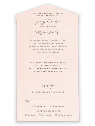 Simply Perfect All-in-One Wedding Invitations