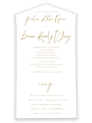 Pastoral All-in-One Wedding Invitations