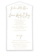 Pastoral All-in-One Wedding Invitations By Up Up Creative