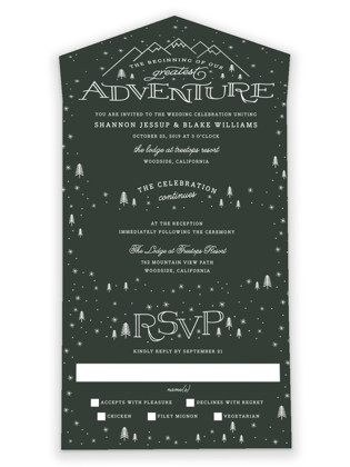 Adventurous All-in-One Wedding Invitations
