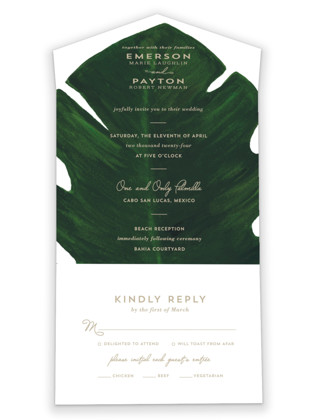 Palm All-in-One Wedding Invitations