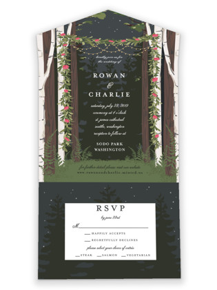 Enchanted Forest All-in-One Wedding Invitations