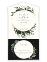 Natures Greens All-in-One Wedding Invitations By Susan Moyal