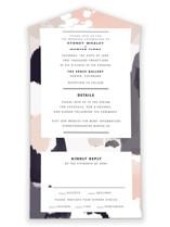 Artistic Union All-in-One Wedding Invitations