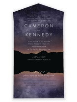 Starry Skies All-in-One Wedding Invitations