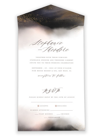 Enchantment All-in-One Wedding Invitations