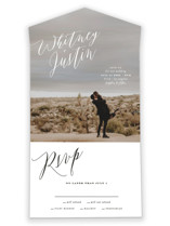 This is a white all in one wedding invitation by Roxy Cervantes called Signed with standard printing on value cover in all-in-one.