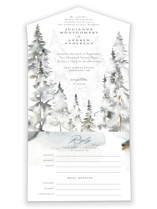 This is a grey all in one wedding invitation by Petra Kern called Grand Escape with standard printing on value cover in all-in-one.