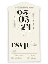 This is a beige all in one wedding invitation by Anastasia Makarova called Big Date with standard printing on value cover in all-in-one.