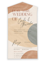 This is a brown all in one wedding invitation by Pixel and Hank called Surface with standard printing on value cover in all-in-one.