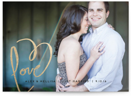 Love + Heart Wedding Announcements