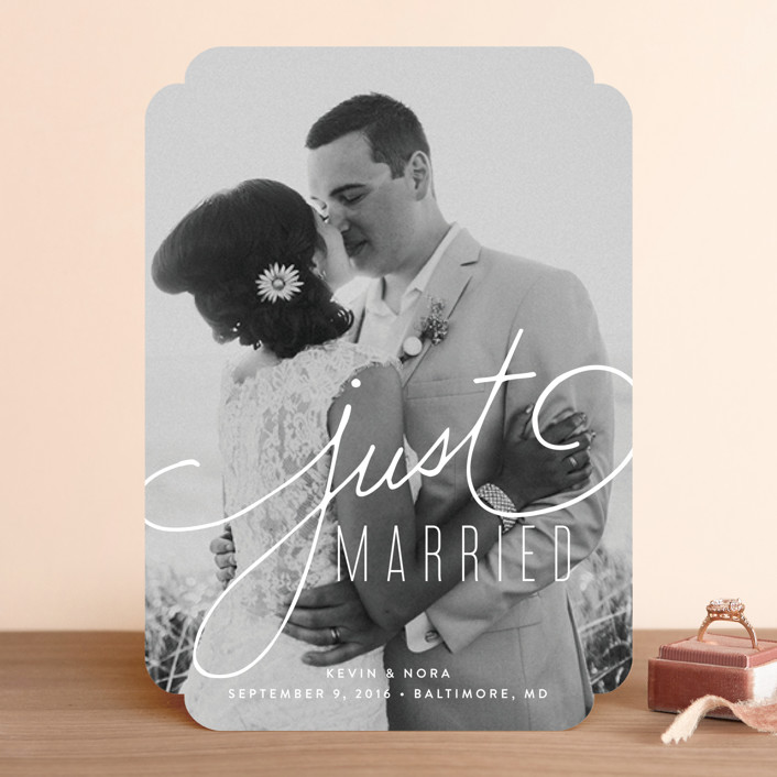 """Signature"" - Simple, Elegant Wedding Announcements in Lace by Jessica Williams."