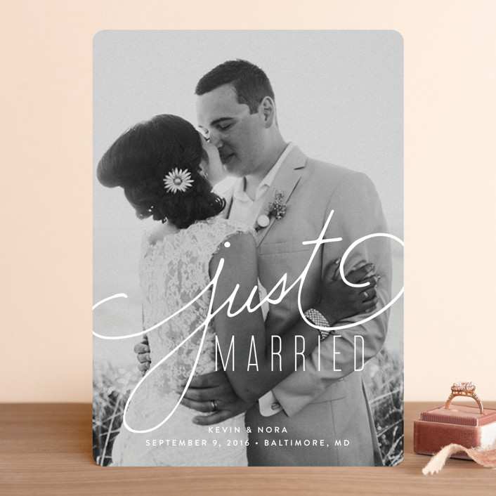 """""""Signature"""" - Wedding Announcements in Lace by Jessica Williams."""