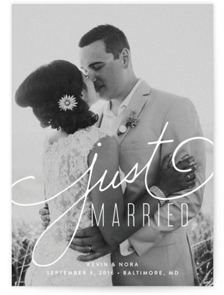 Signature Wedding Announcements