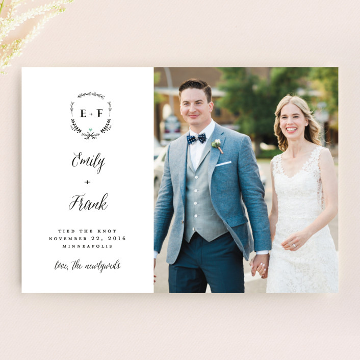 """""""Always"""" - Wedding Announcements in Mint by Susan Brown."""