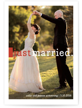 Be Joyful Wedding Announcements