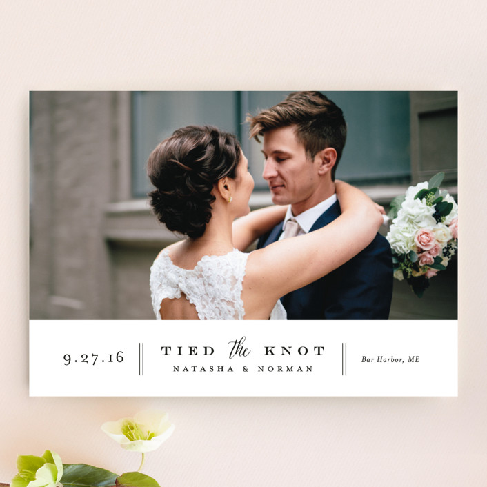 """""""Bottom Line"""" - Classical Wedding Announcements in Vanilla by Jennifer Wick."""