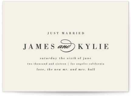 Classically Stated Wedding Announcements