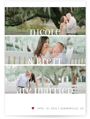 Clean Merry Wishes Wedding Announcements