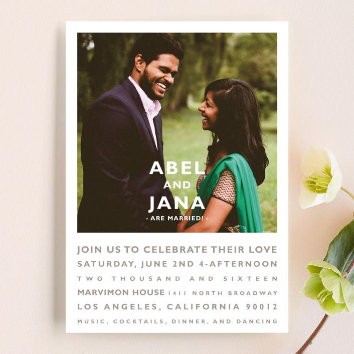 """Desenfadado"" - Wedding Announcements in Tuxedo by Aspacia Kusulas."