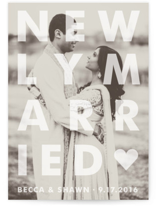 Etched Wedding Announcements