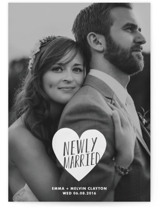 Merry + Married Wedding Announcements
